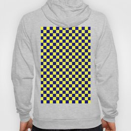 Electric Yellow and Navy Blue Checkerboard Hoody