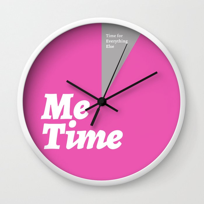 Me Time - Pink Wall Clock