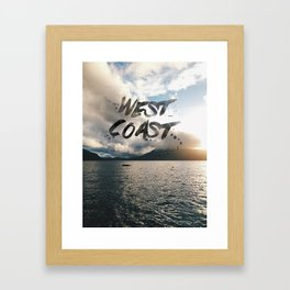 West Coast Beauty Framed Art Print