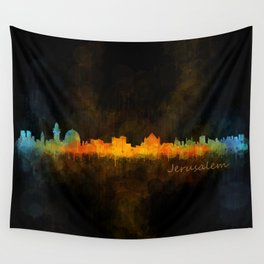 Jerusalem City Skyline Hq v4 Wall Tapestry