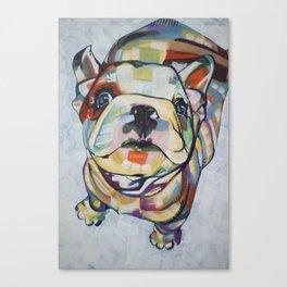 English Bulldog Puppy Print Canvas Print