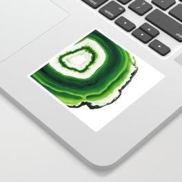 Green Agate Geode slice Sticker