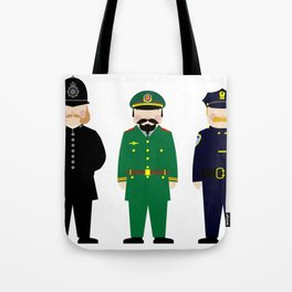 International Police Uniforms & Moustaches Tote Bag