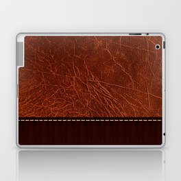 Brown leather look #2 Laptop & iPad Skin