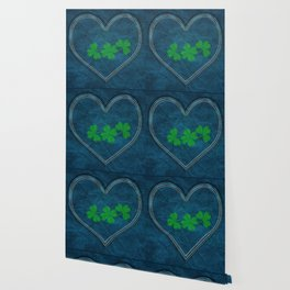 Shamrock Digital Embroidery Wallpaper