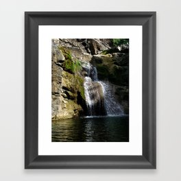 """Ultimo brinco"" waterfall @ Rincon, Puerto Rico Framed Art Print"