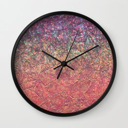 Sparkley Grunge Relief Background G179 Wall Clock