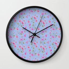 beach rose Wall Clock