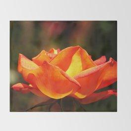 Red Rose Glowing Throw Blanket