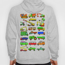 Doodle Trucks Vans and Vehicles Hoody