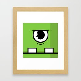 Monsters⁴ : Green Framed Art Print