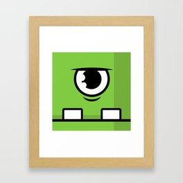 Monsters⁴ : Green Framed Art Print