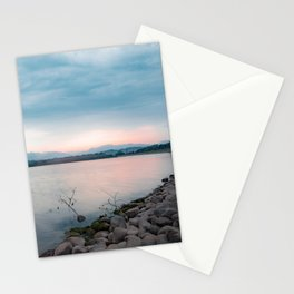 Sunrise by the Lake Side Stationery Cards