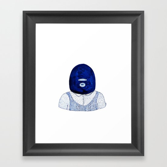 Blue Jack Framed Art Print