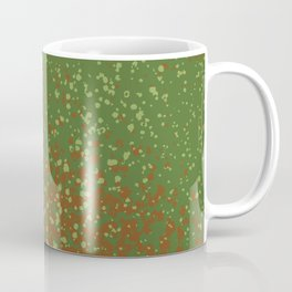 Green Splatter Print Coffee Mug