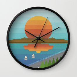 Sunset in Spectrum Wall Clock