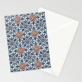 Iznik Tile Pattern Red Blue White Stationery Cards