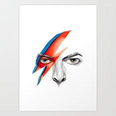 David Bowie Ziggy Stardust Art Print