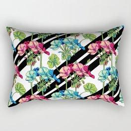 Flowers & Strips Rectangular Pillow