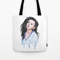 charli xcx Tote Bags featuring Charli XCX Slime by firemylions
