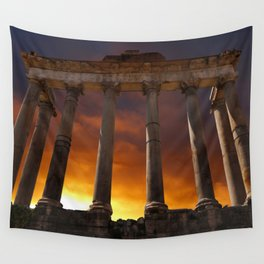 Temple of Saturn Ruins Wall Tapestry