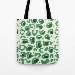 Leopard Skin Inspire Pattern Green Tote Bag