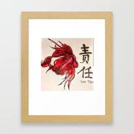 The Lone Fish Framed Art Print
