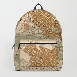 Vintage Map of Richmond VA (1864) Backpack