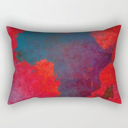 Africa map 3D red blue #africa #map Rectangular Pillow