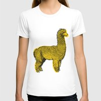alpaca T-shirts featuring huacaya alpaca by youareconstance