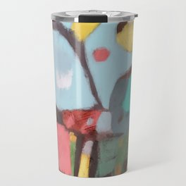 The world seemed like japanese paper... Contemporary Abstract Art - Colorful - Travel Mug