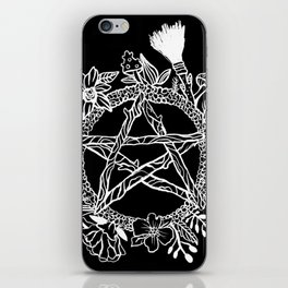 Pentacle Wreath Witchy Pagan Goth iPhone Skin