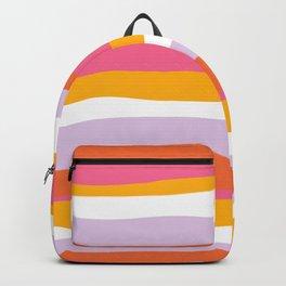 cali beach stripes Backpack