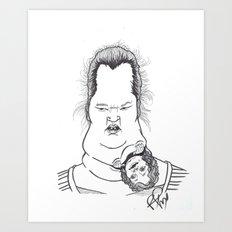 Kanga-booboo Art Print