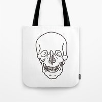 skeleton Tote Bags featuring Skeleton by FACTORIE