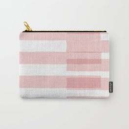 Big Stripes in Pink Carry-All Pouch