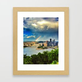 Pittsburgh: Rainbow from Mt. Washington Framed Art Print