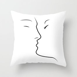 Kiss Love Couple Together Throw Pillow