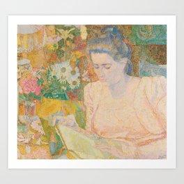 Portrait of Mrs. Marie Jeannette de Lange - Jan Toorop (1900) Art Print