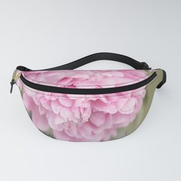 Pink Peonies On A Green And Grey Background #society6 #buyart Fanny Pack