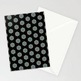 colorful floral geometric abstract pattern Stationery Cards