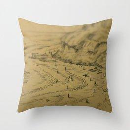 Swamis Sketch Throw Pillow