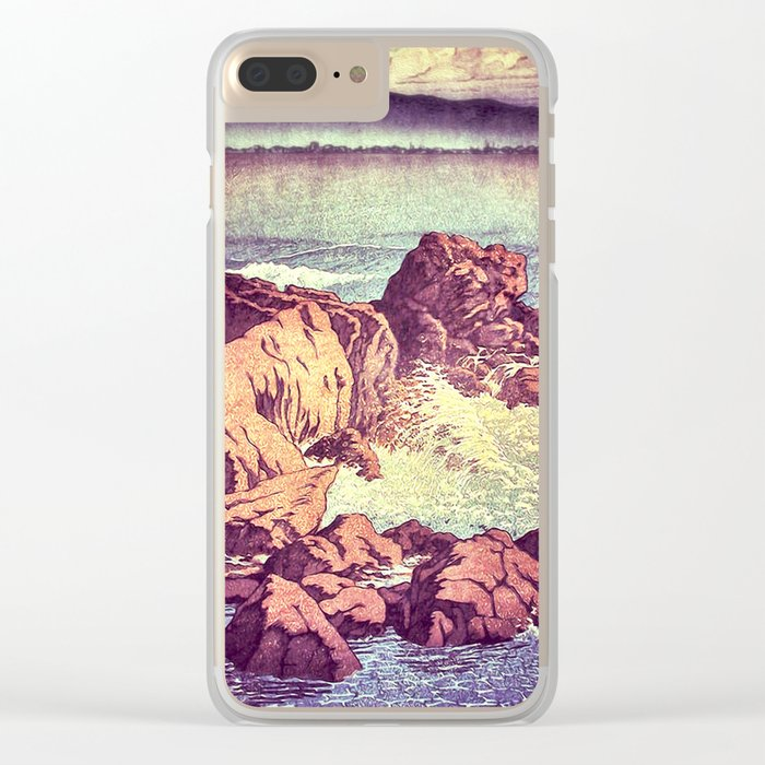 Stopping by the Shore at Uke Clear iPhone Case