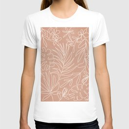 Engraved Tropical Line T-shirt