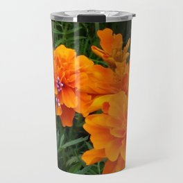 Marigolds with a touch of pink Travel Mug