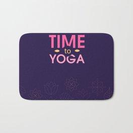 Time to Yoga Bath Mat