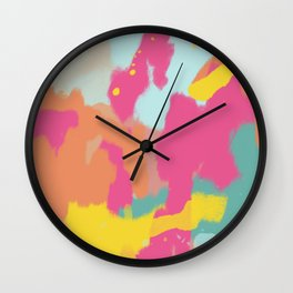Abstract Colour Study (Urban Camouflage) Wall Clock