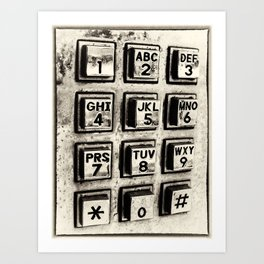 What's Your Number? Art Print