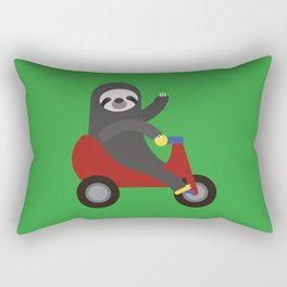Sloth on Tricycle Rectangular Pillow