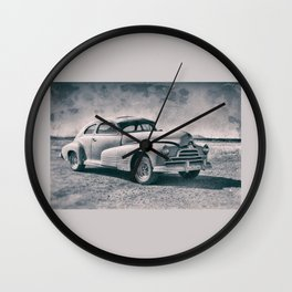 Pontiac At Sonoita Wall Clock